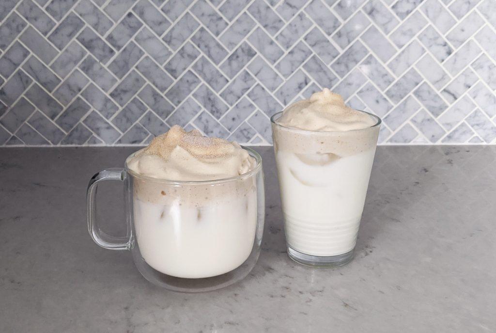 Dalgona Milk Tea two glasses