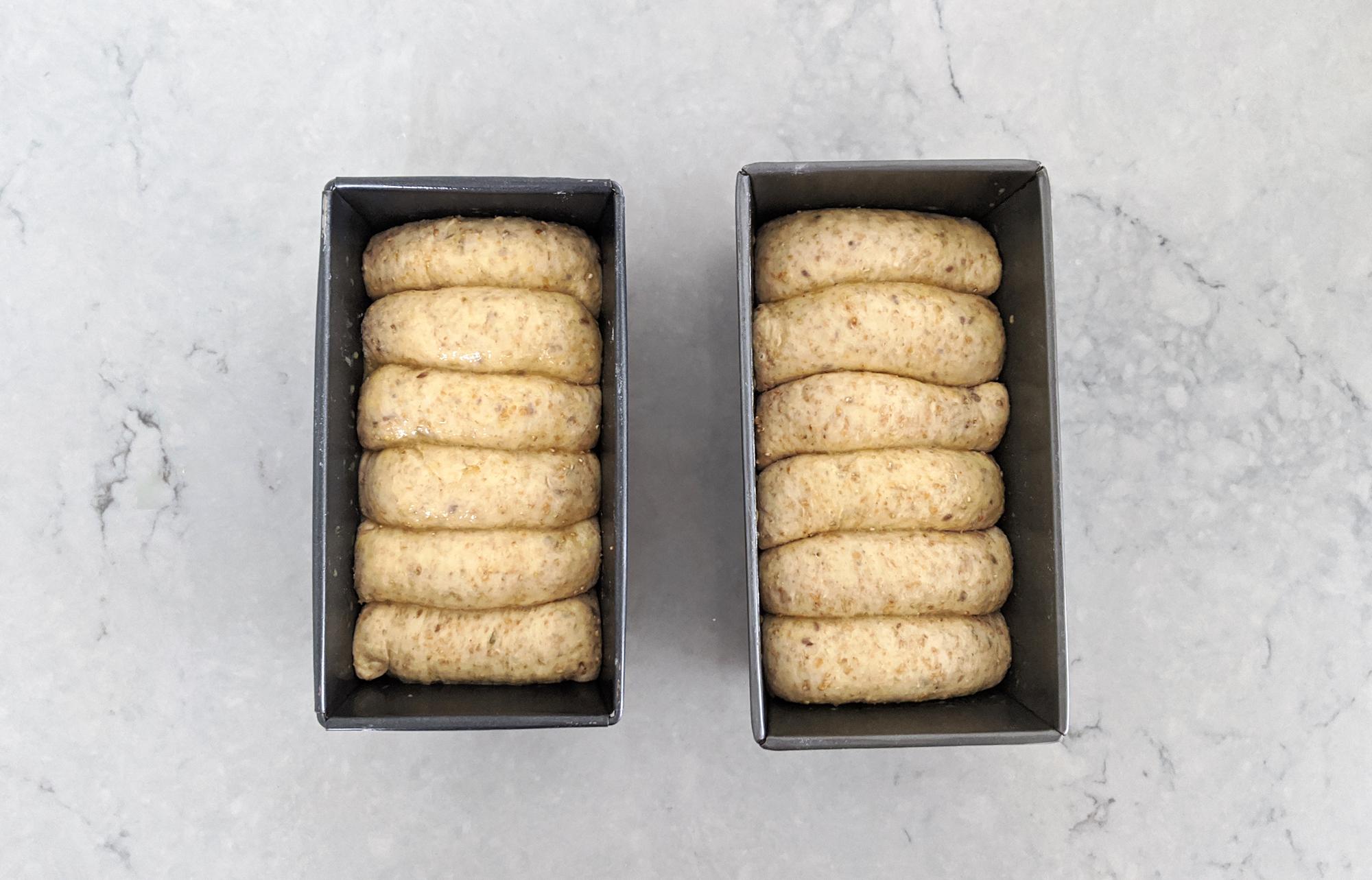 Hokkaido milk bread ready to bake
